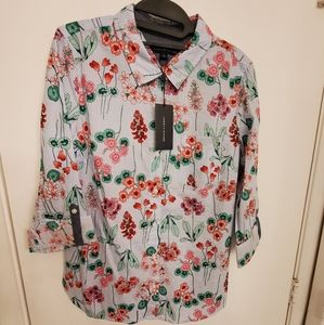 New Tommy Hilfiger floral button down shirt